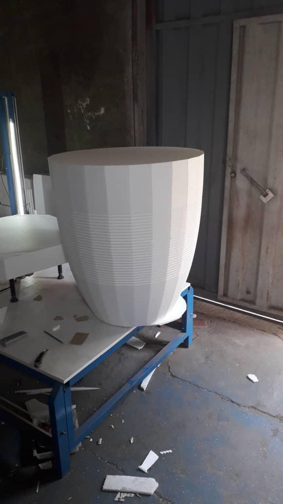 ساخت گلدان با یونولیت