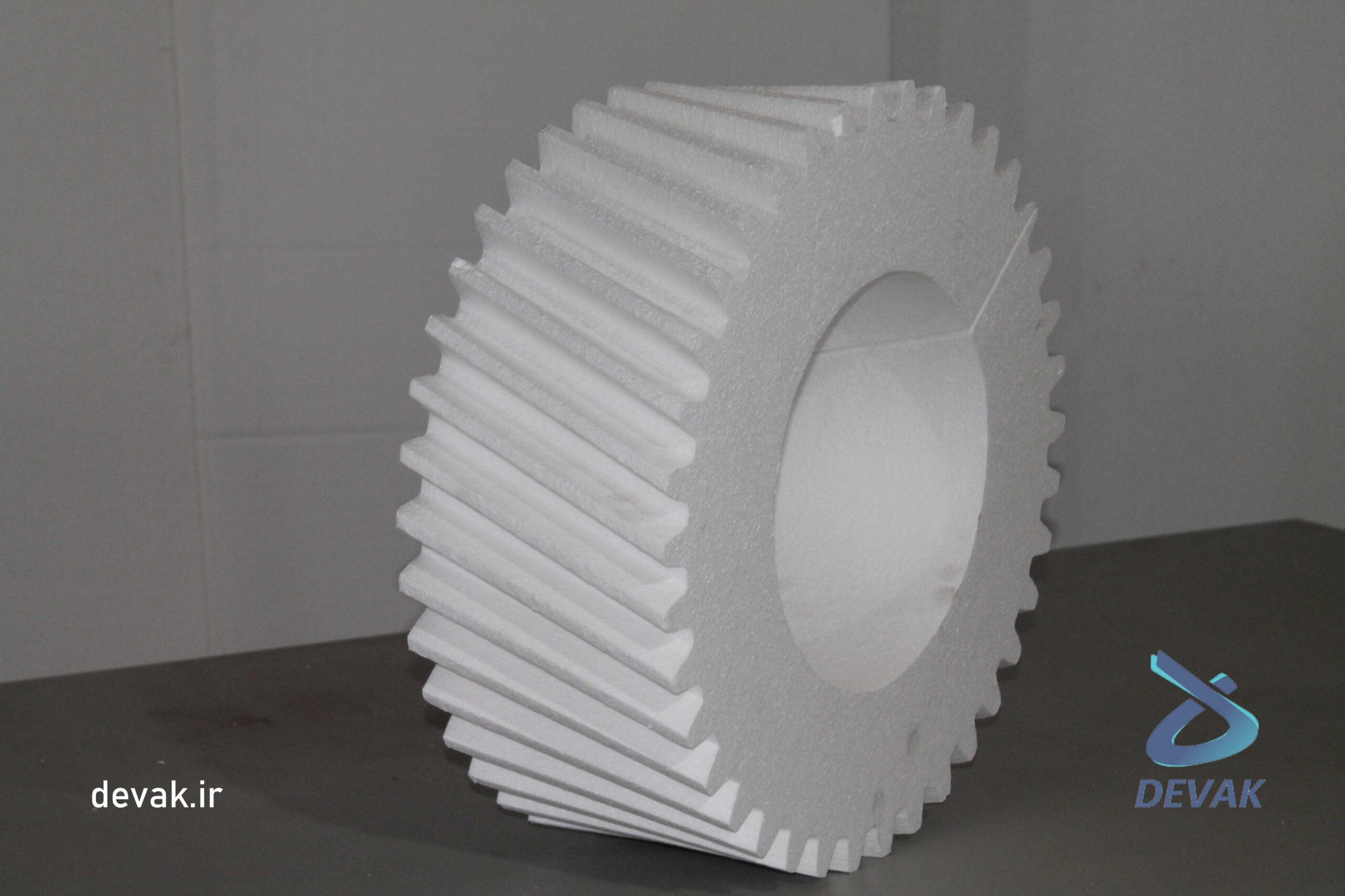 ساخت قالب فداشونده با یونولیت - چرخ دنده یونولیتی