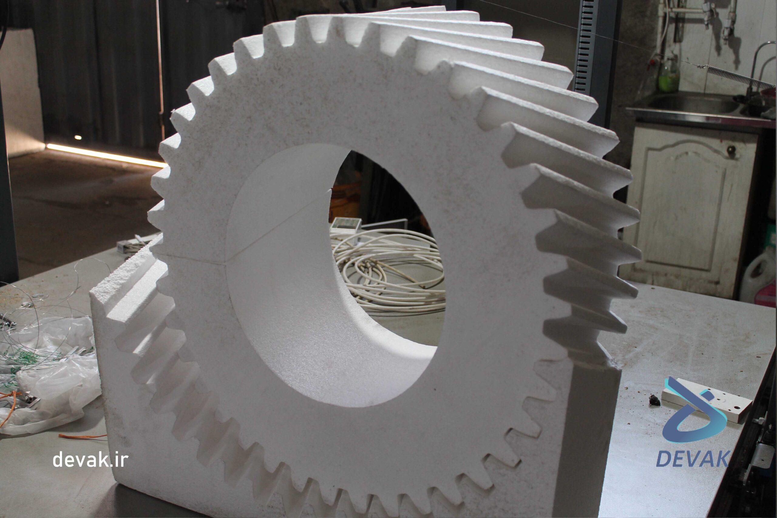 ساخت قالب یونولیتی با دستگاه سی ان سی قالب چرخ دنده